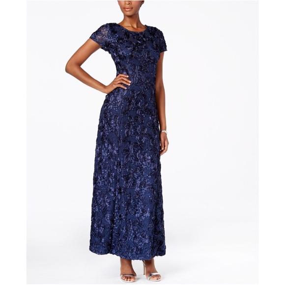 04cf3f0961c Alex Evenings Dresses   Skirts - Alex Evenings Rosette A-line Gown